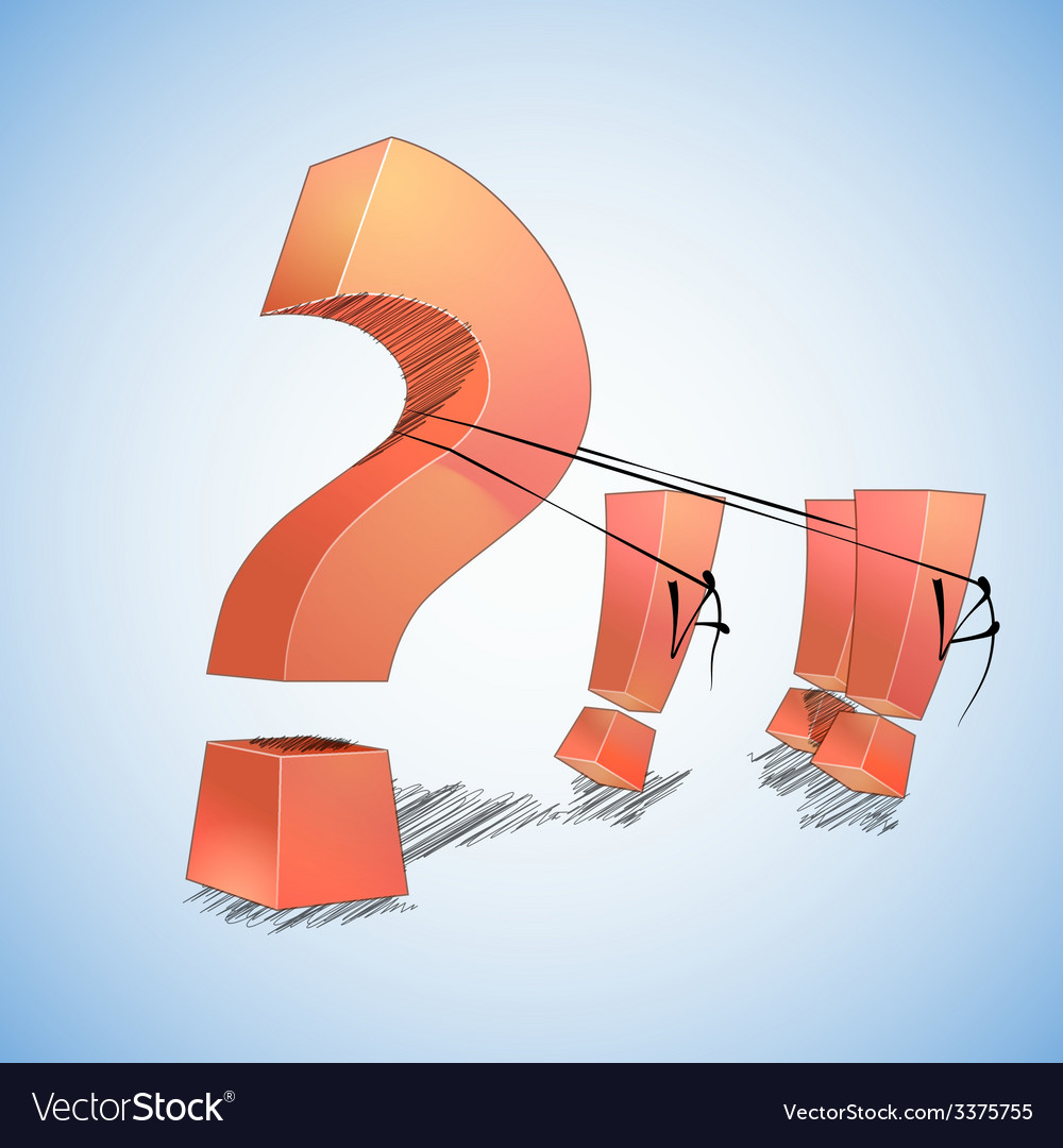 Question and answers vector | Price: 1 Credit (USD $1)
