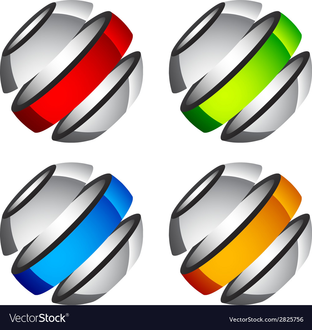 Abstract shiny colored globes vector | Price: 1 Credit (USD $1)