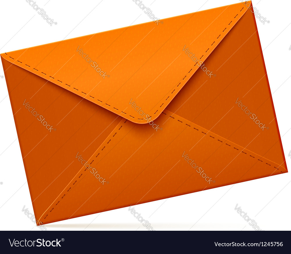 Brown empty mail envelope vector | Price: 1 Credit (USD $1)