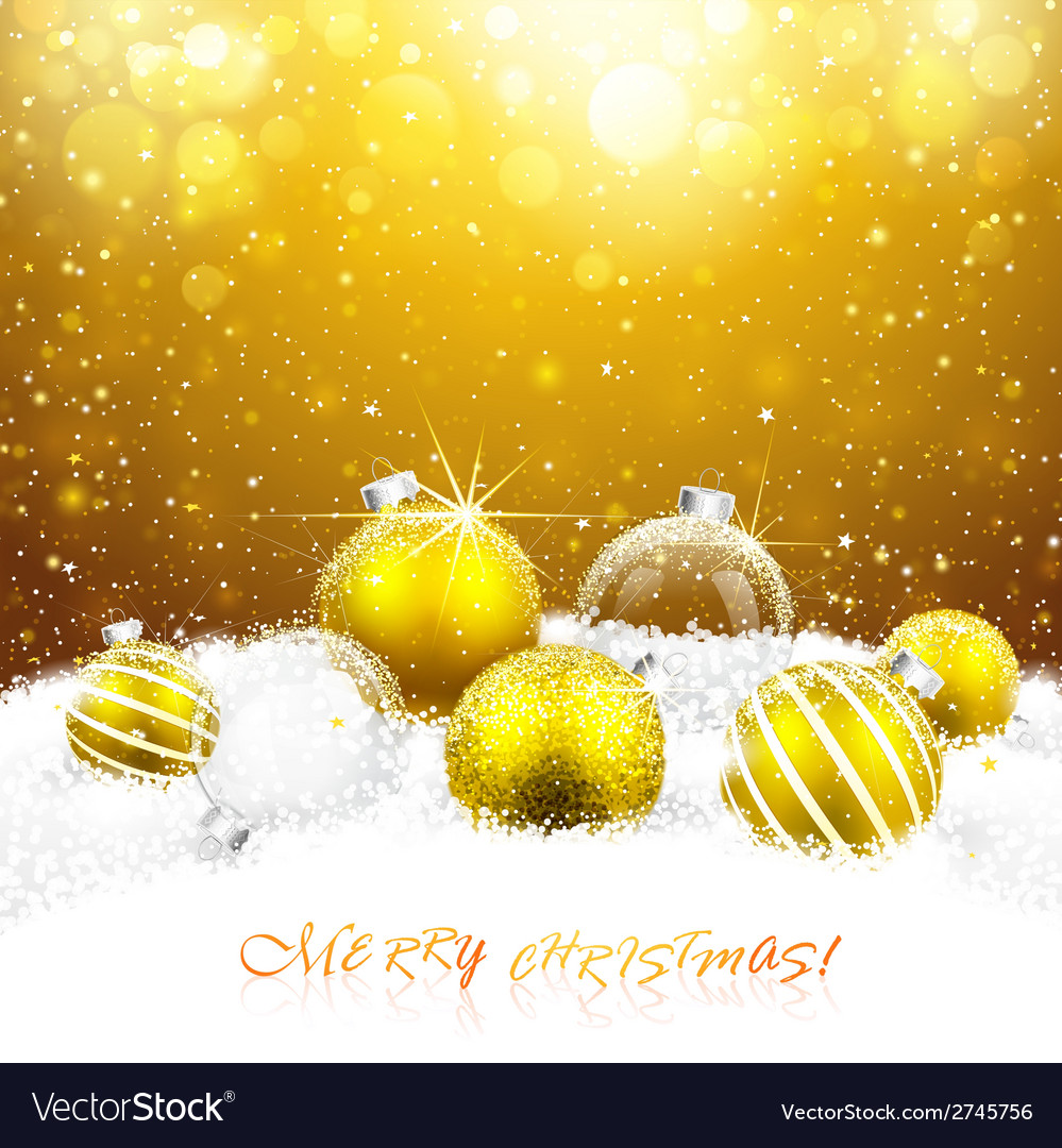 Christmas decorations in the snow vector | Price: 1 Credit (USD $1)