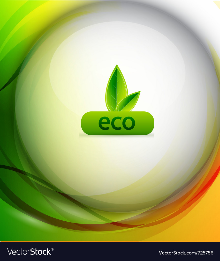 Colorful eco background vector | Price: 1 Credit (USD $1)
