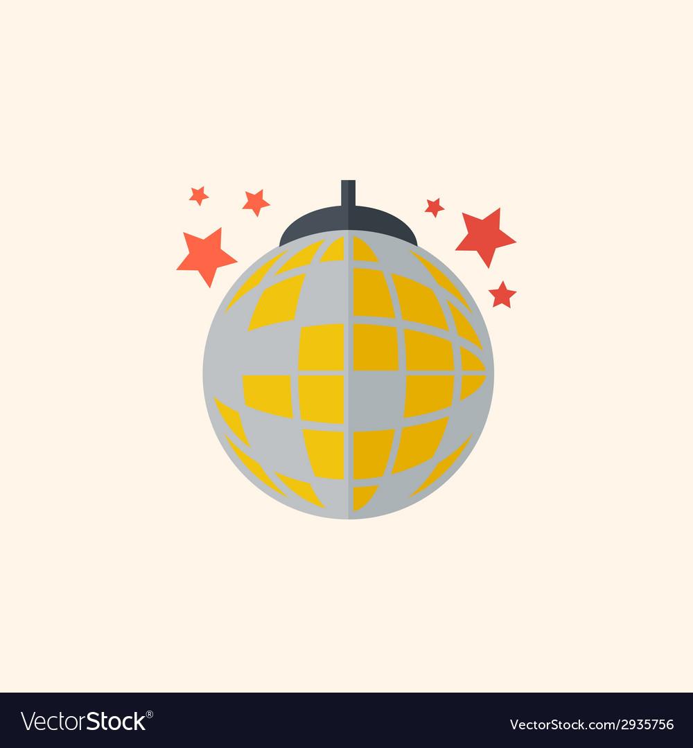 Disco flat icon vector | Price: 1 Credit (USD $1)