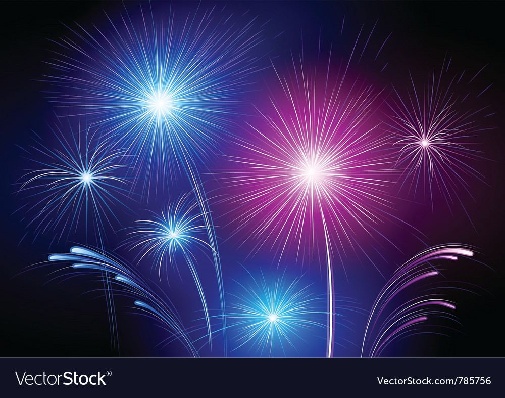 Exploding fireworks vector | Price: 1 Credit (USD $1)