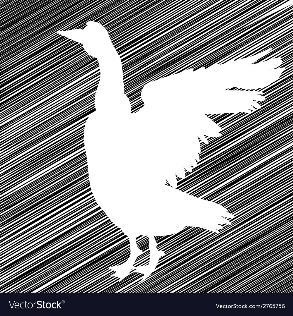 Goose stencil vector | Price: 1 Credit (USD $1)