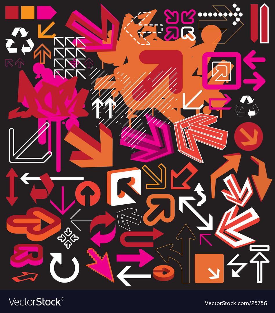 Graphic arrow vector | Price: 1 Credit (USD $1)
