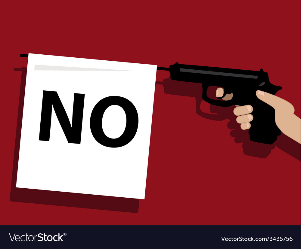 How to say no vector | Price: 1 Credit (USD $1)