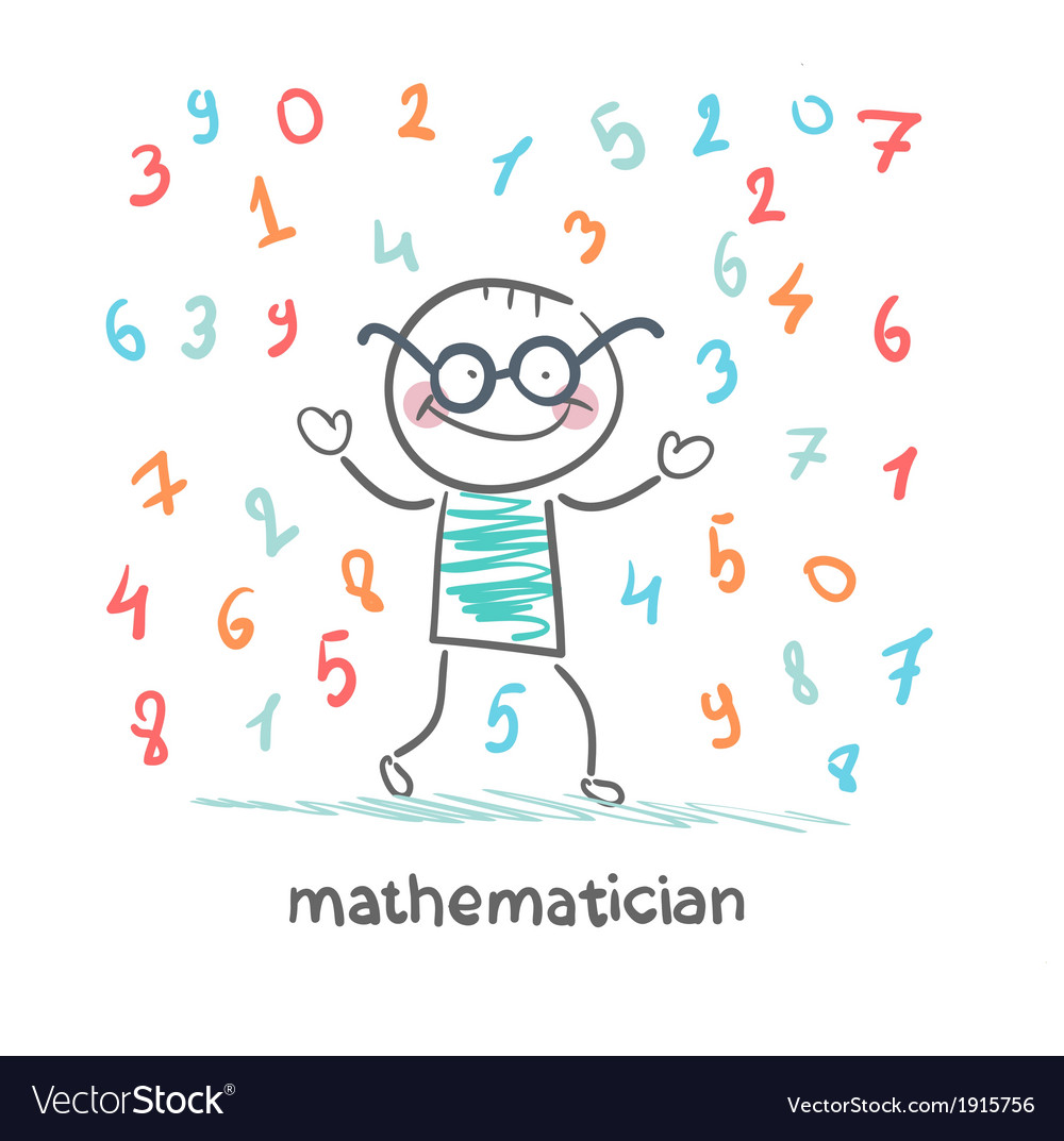 Mathematician is the rain of numbers vector | Price: 1 Credit (USD $1)