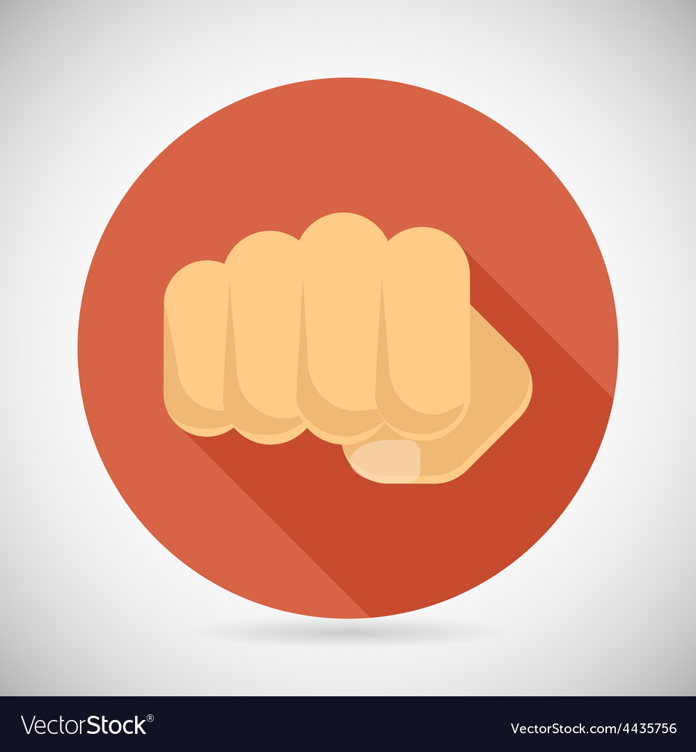 Punch fist hand palm icon social power courage vector | Price: 1 Credit (USD $1)