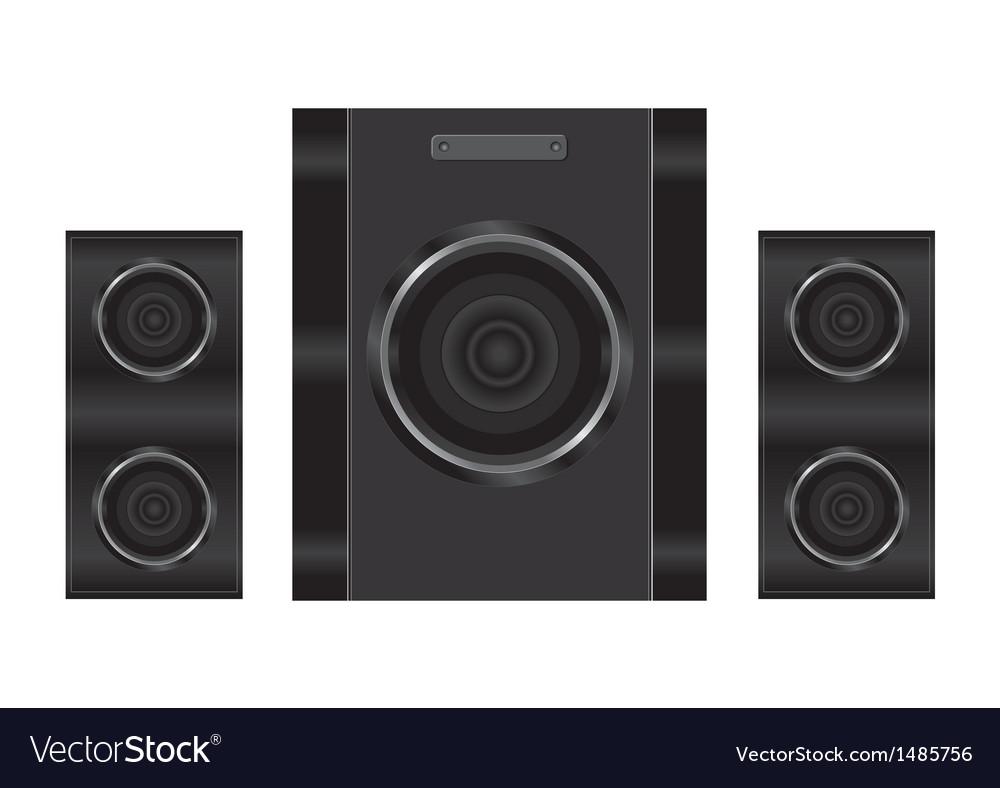 Realistic audio speakers vector | Price: 1 Credit (USD $1)