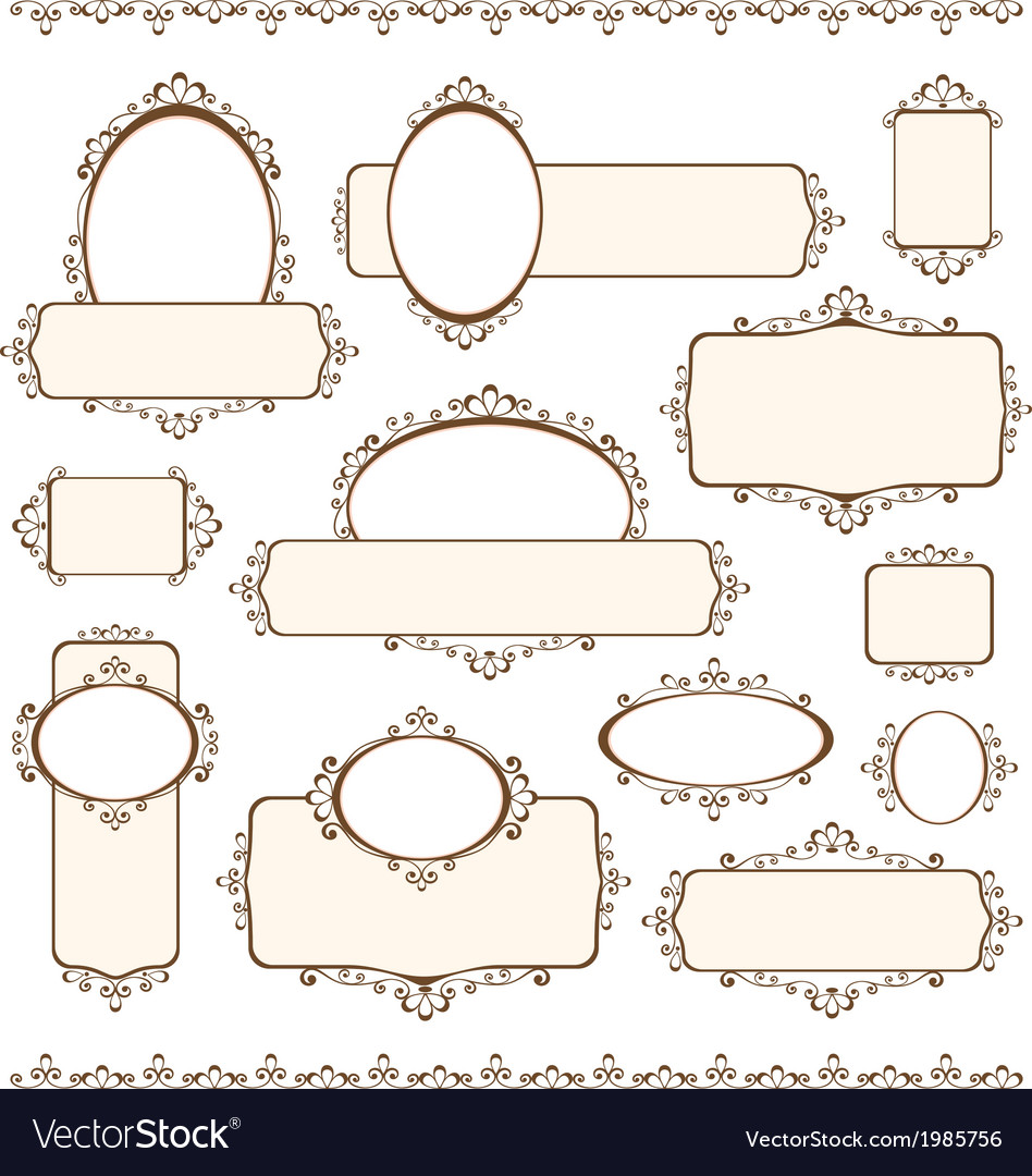Set of decorative banners vector | Price: 1 Credit (USD $1)