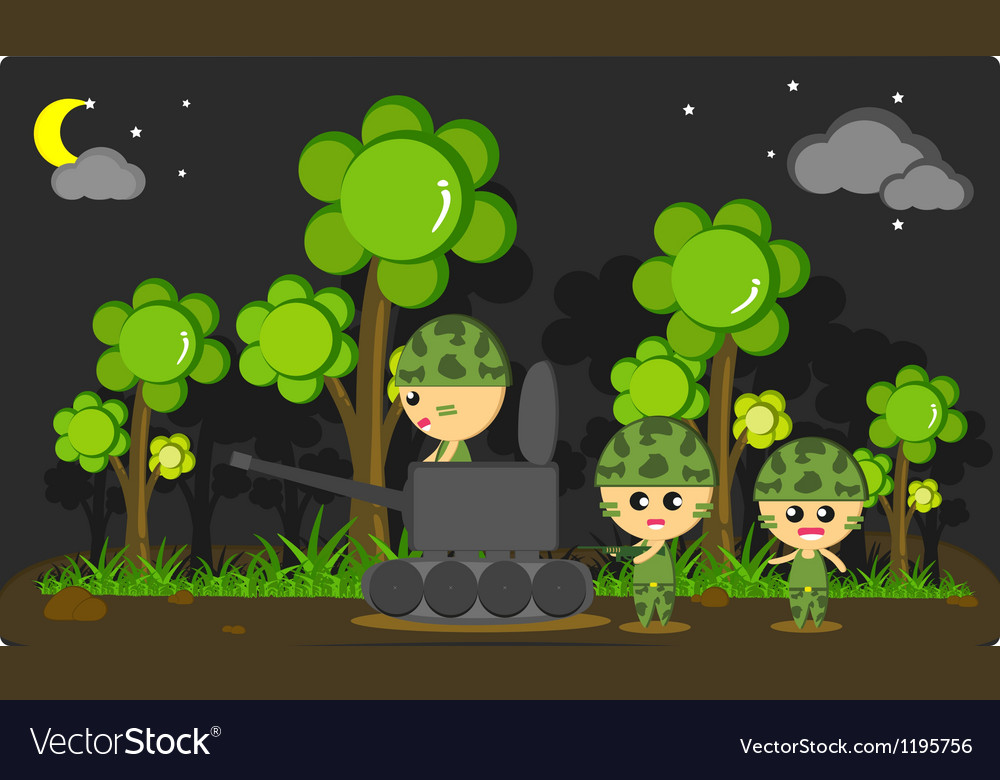Soldier in the wild edit vector | Price: 1 Credit (USD $1)