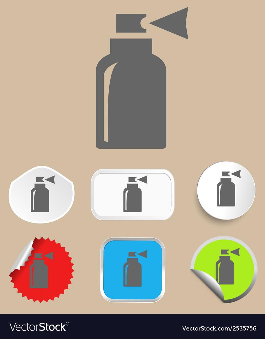 Spray icon -  flat design style vector | Price: 1 Credit (USD $1)