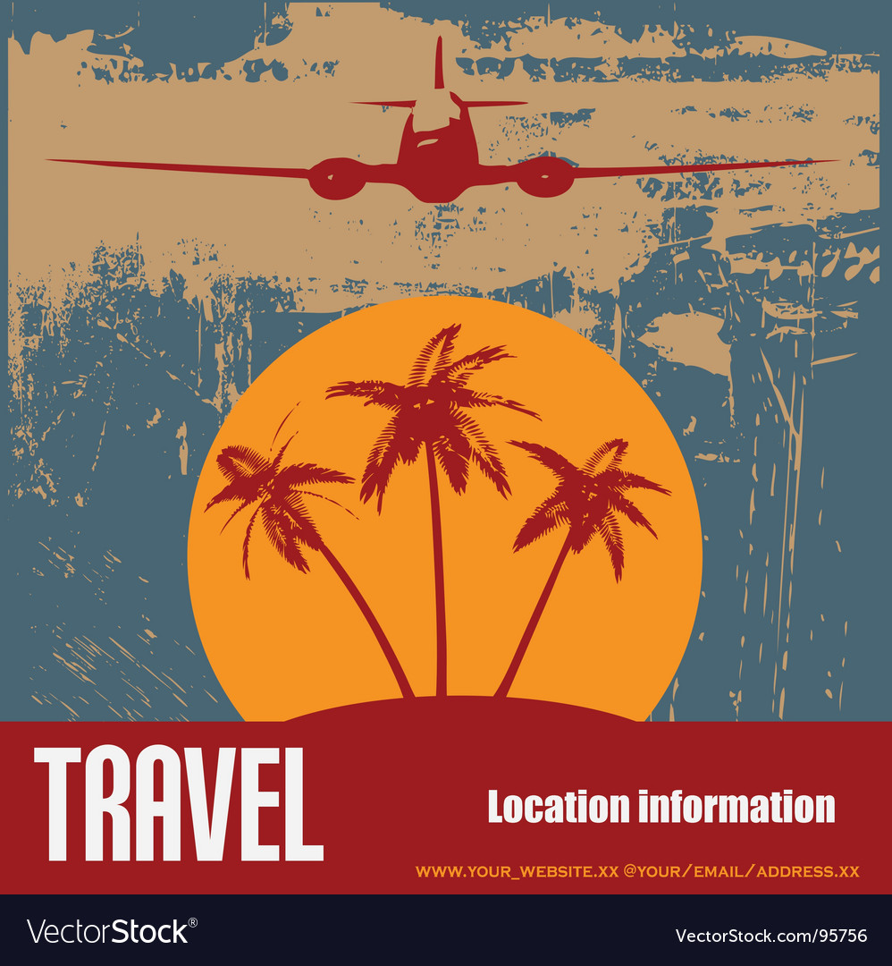 Tropical beach travel vector | Price: 1 Credit (USD $1)