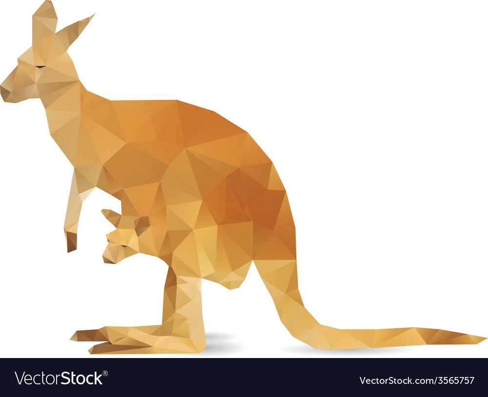 Abstract kangaroo vector | Price: 1 Credit (USD $1)