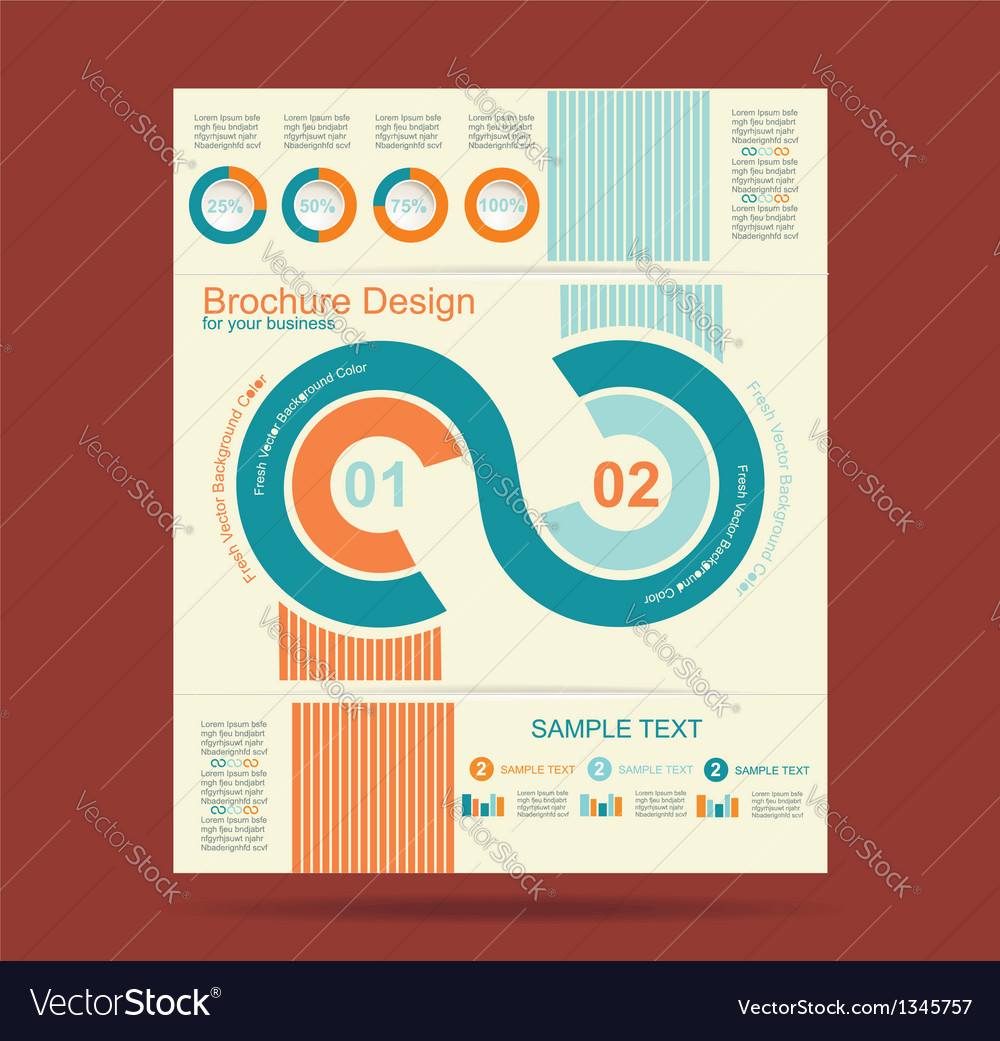Advertising brochure design template vector | Price: 1 Credit (USD $1)