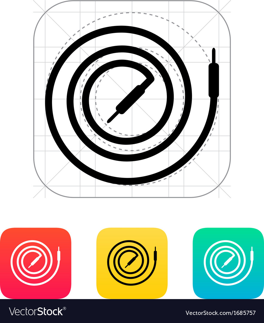 Audio cable icon vector | Price: 1 Credit (USD $1)