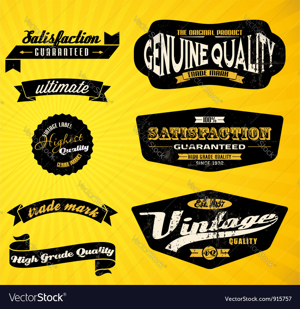 Black labels vector | Price: 1 Credit (USD $1)