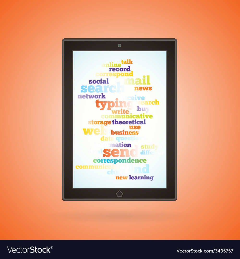 Brown tablet vector | Price: 1 Credit (USD $1)
