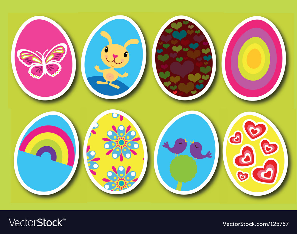 Easter eggs pop vector | Price: 1 Credit (USD $1)