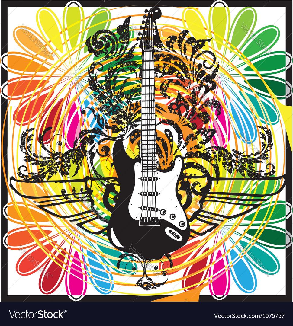 Electric guitar design vector | Price: 1 Credit (USD $1)