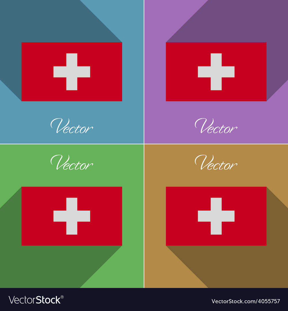 Flags switzerland set of colors flat design and vector | Price: 1 Credit (USD $1)