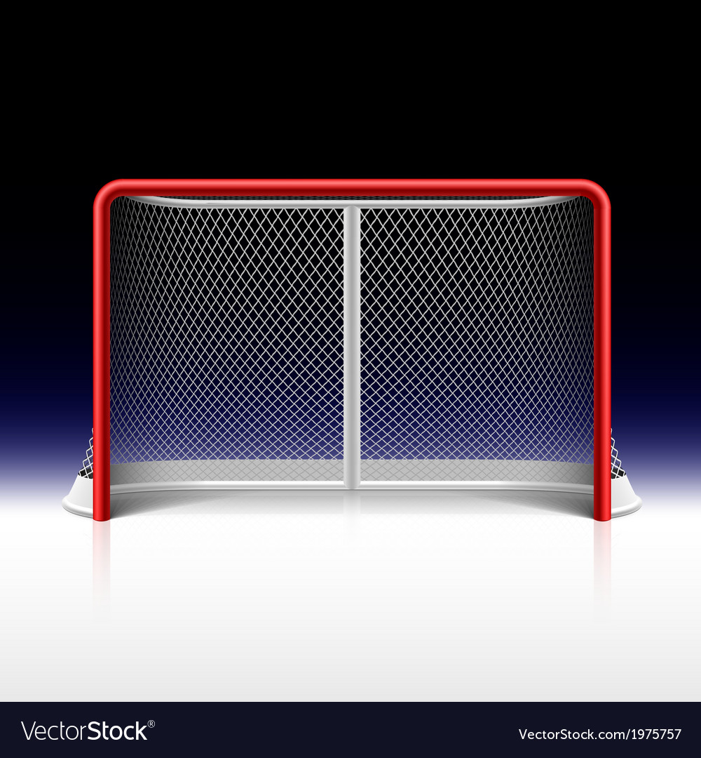 Ice hockey net goal on black vector | Price: 1 Credit (USD $1)