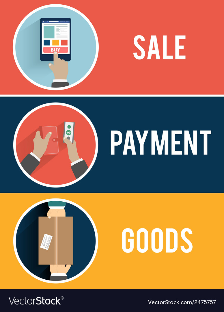 Internet shopping process of purchasing vector | Price: 1 Credit (USD $1)