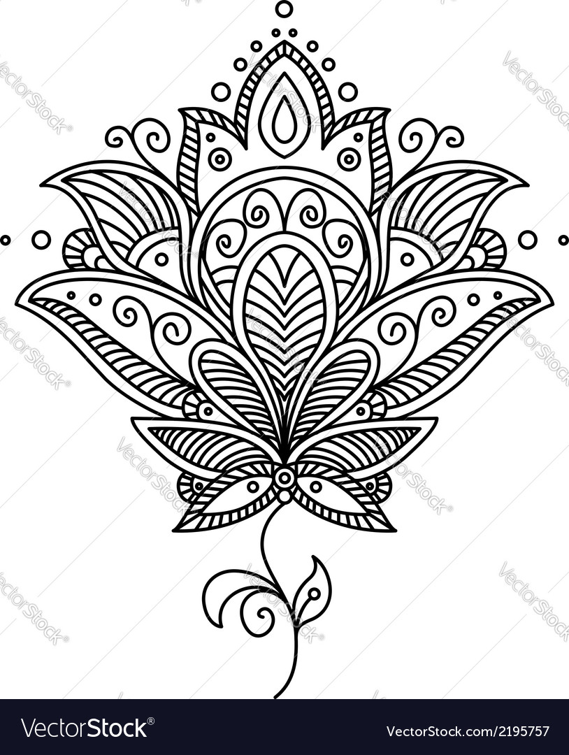 Persian paisley design vector | Price: 1 Credit (USD $1)