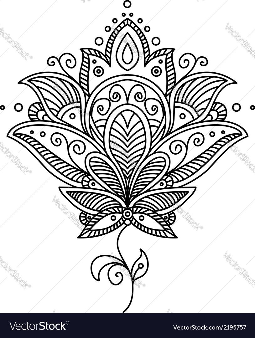 Persian paisley design vector | Price: 1 Credit (USD $1)