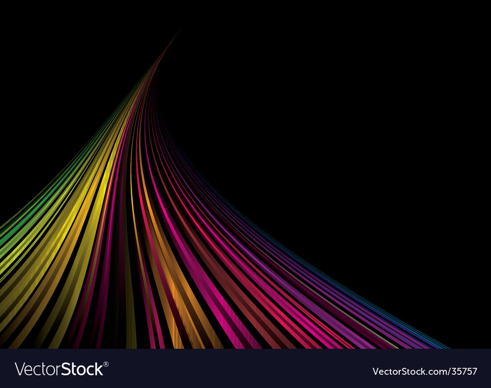 Rainbow space background vector | Price: 1 Credit (USD $1)