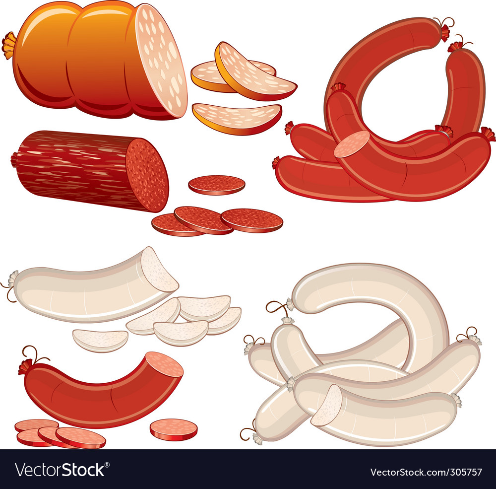 Sausages vector | Price: 3 Credit (USD $3)
