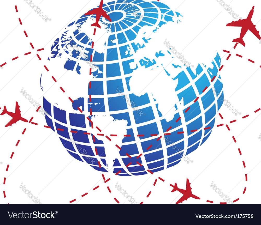 Airplane route vector | Price: 1 Credit (USD $1)