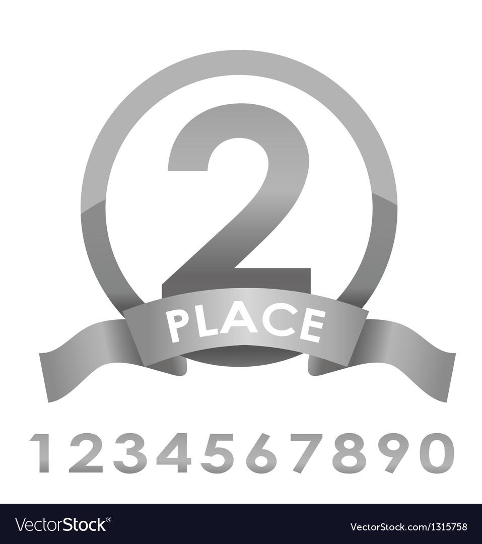 Award badge silver vector | Price: 3 Credit (USD $3)