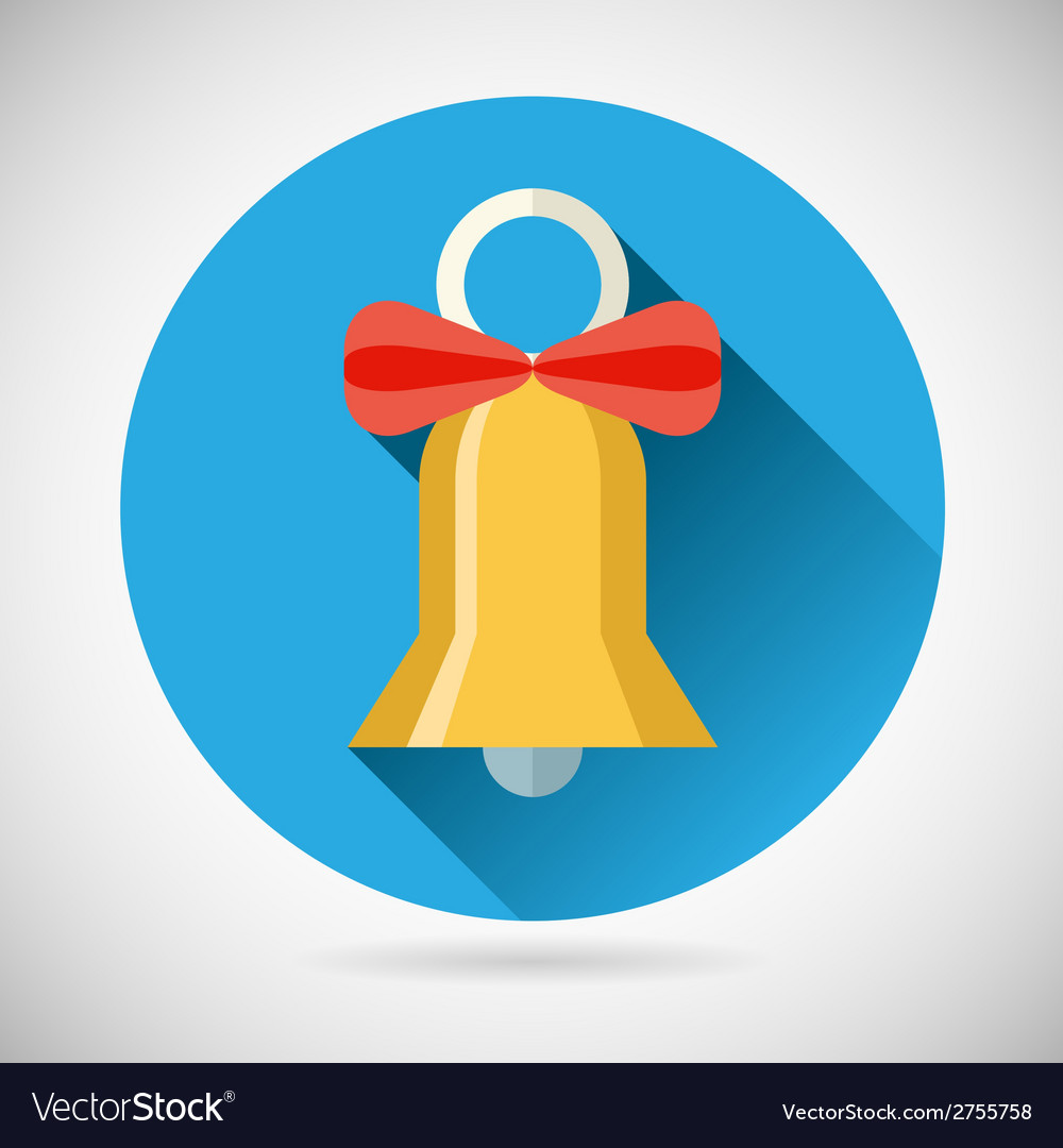Bell with ribbon bow icon vector | Price: 1 Credit (USD $1)