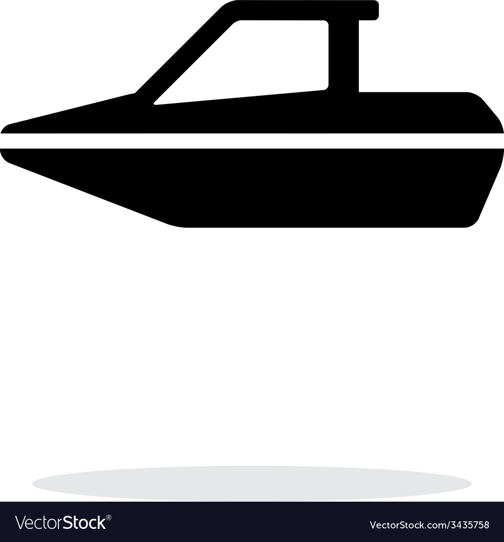 Boat simple icon on white background vector | Price: 1 Credit (USD $1)