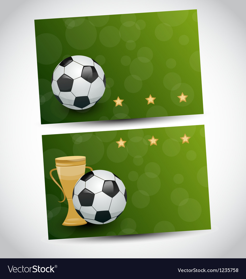 Football cards with champion cup and place for vector | Price: 1 Credit (USD $1)