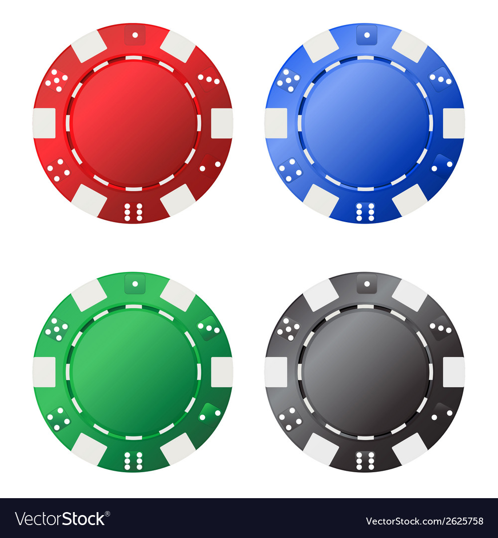 Four gambling chips vector | Price: 1 Credit (USD $1)