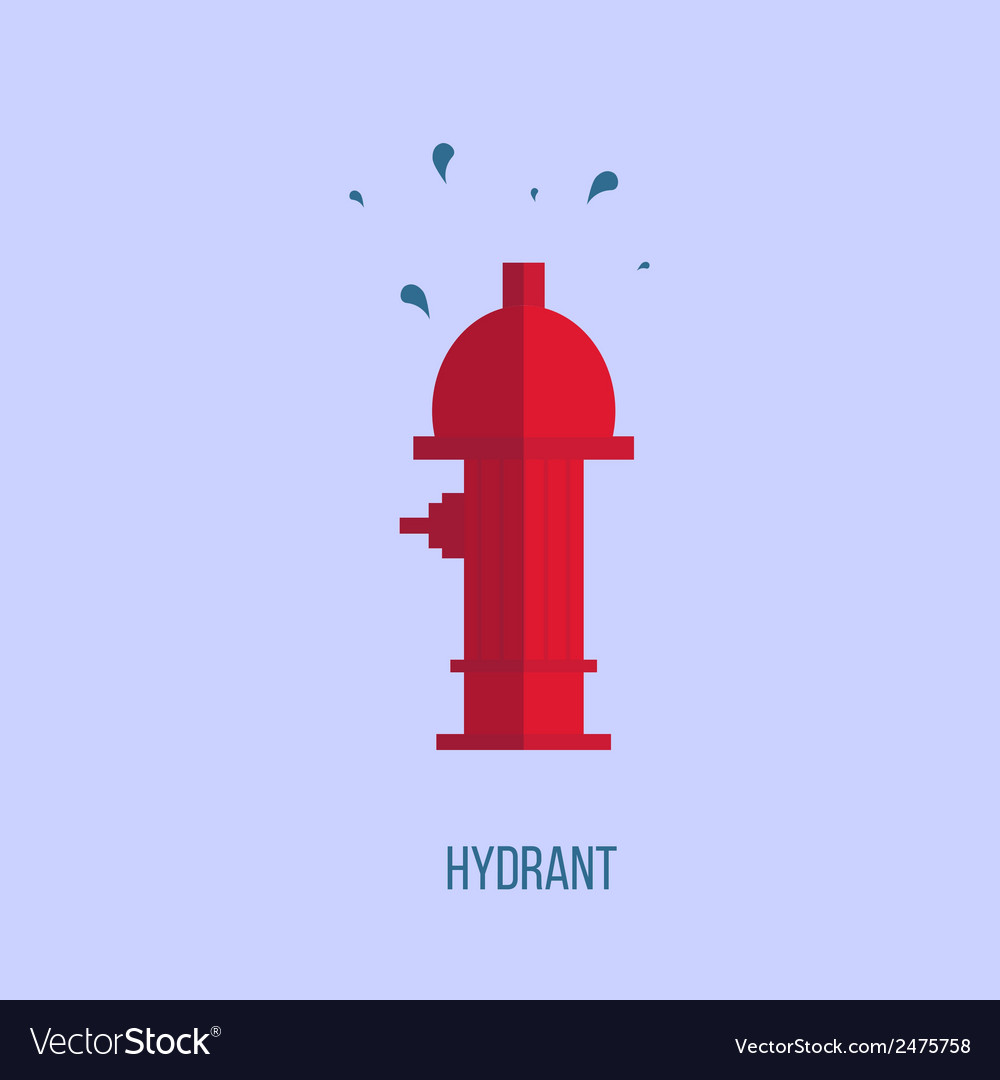 Hydrant in a flat style vector | Price: 1 Credit (USD $1)