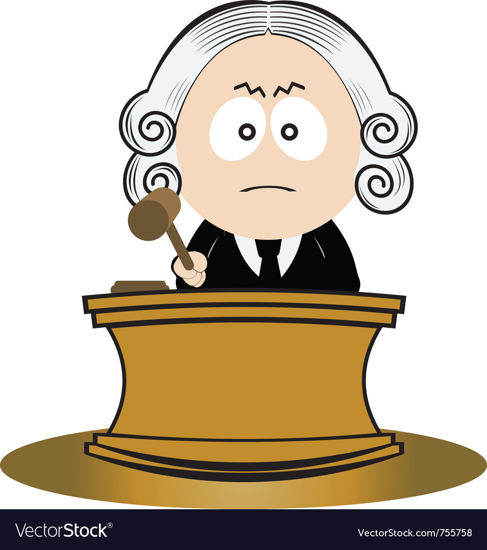 Judge using his gavel vector | Price: 1 Credit (USD $1)