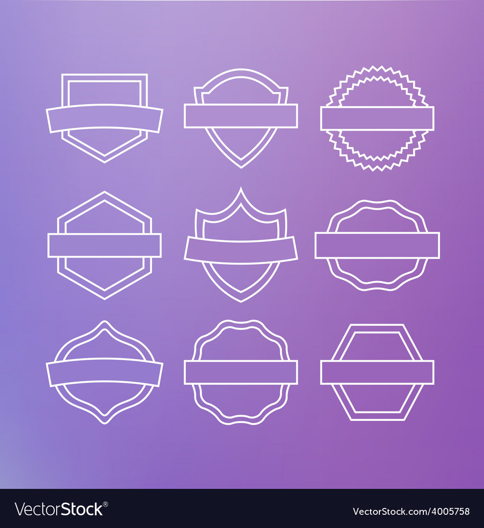 Linear emblems vector | Price: 1 Credit (USD $1)