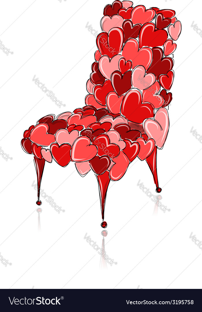 Love chair red for your design vector | Price: 1 Credit (USD $1)