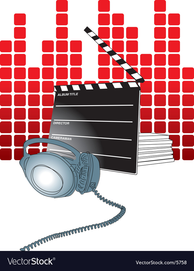 Movie theater background vector | Price: 3 Credit (USD $3)