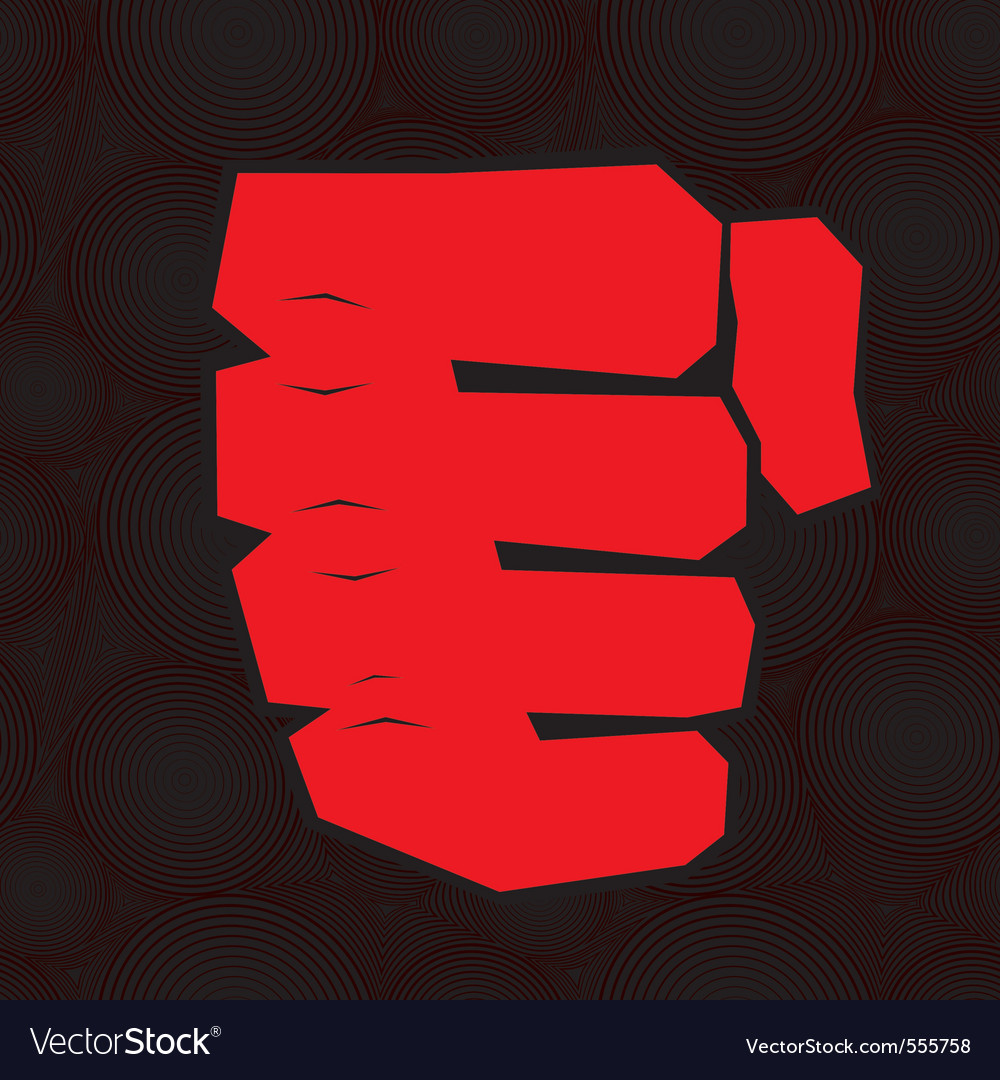 Red clenched fist vector | Price: 1 Credit (USD $1)
