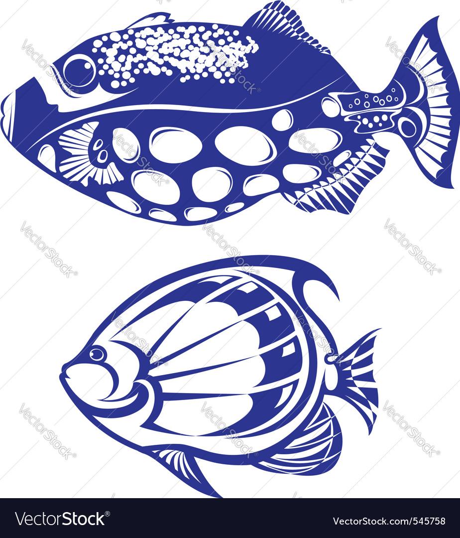 Tropical fish vector
