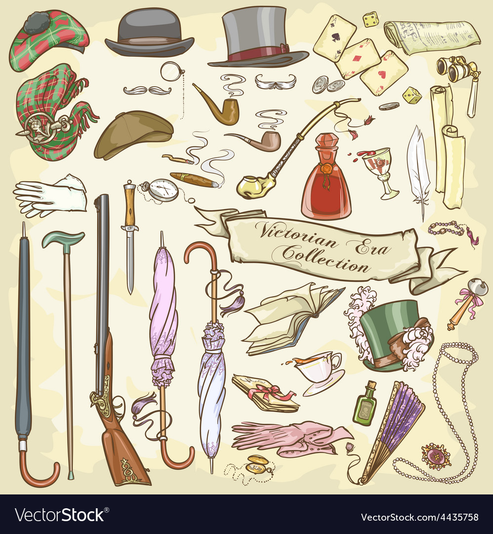 Victorian era collection vector | Price: 3 Credit (USD $3)