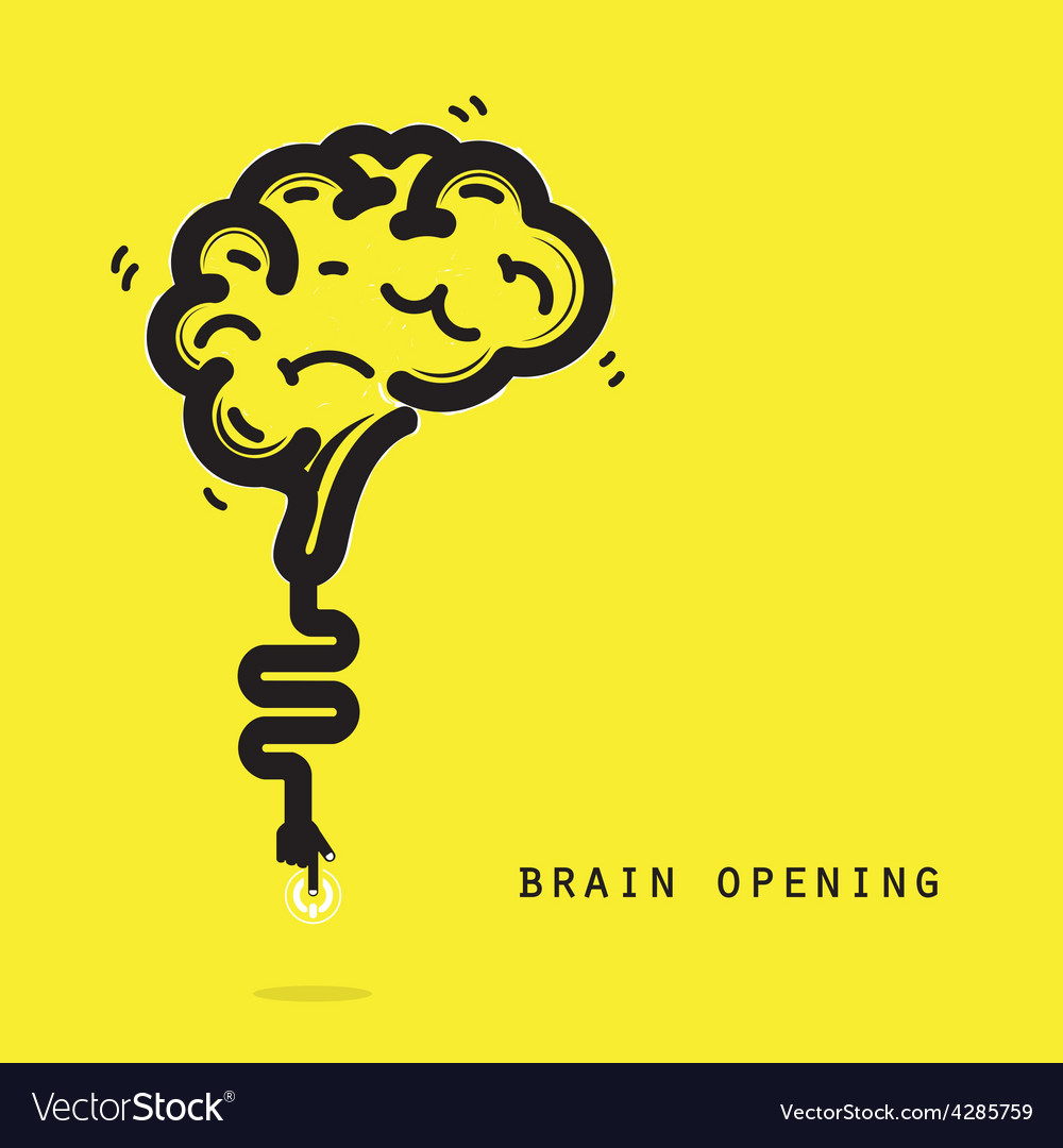 Brain opening concept vector | Price: 1 Credit (USD $1)