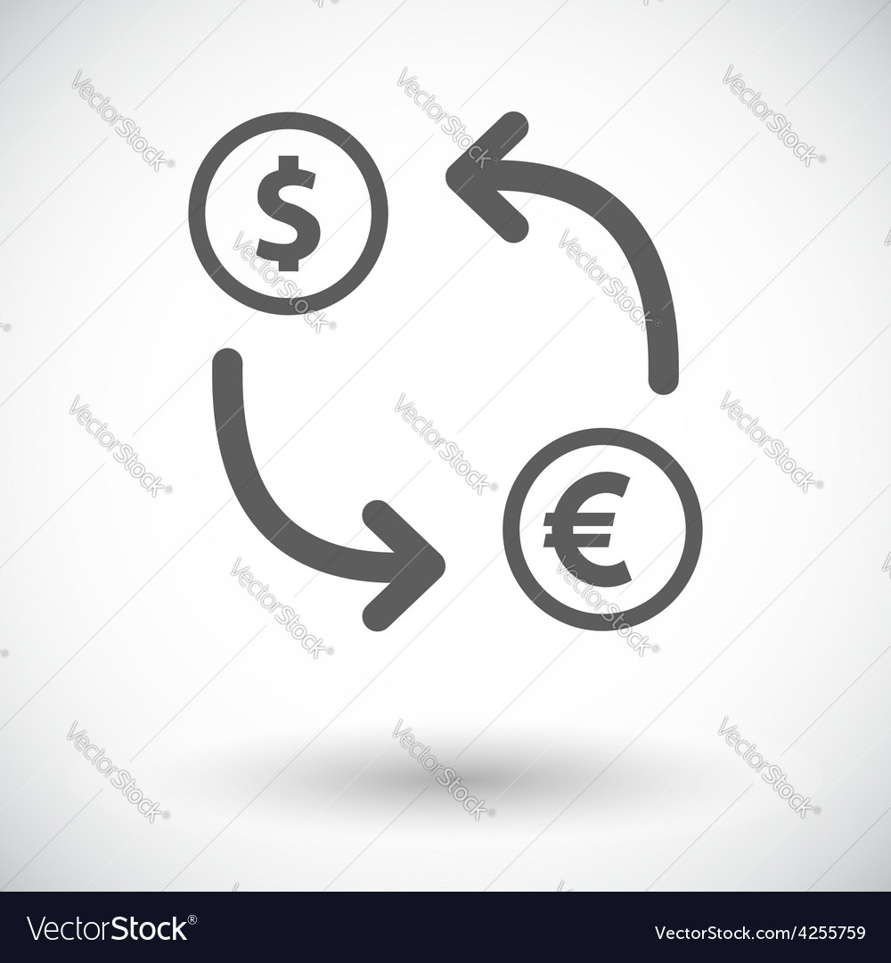 Currency exchange single flat icon vector | Price: 1 Credit (USD $1)