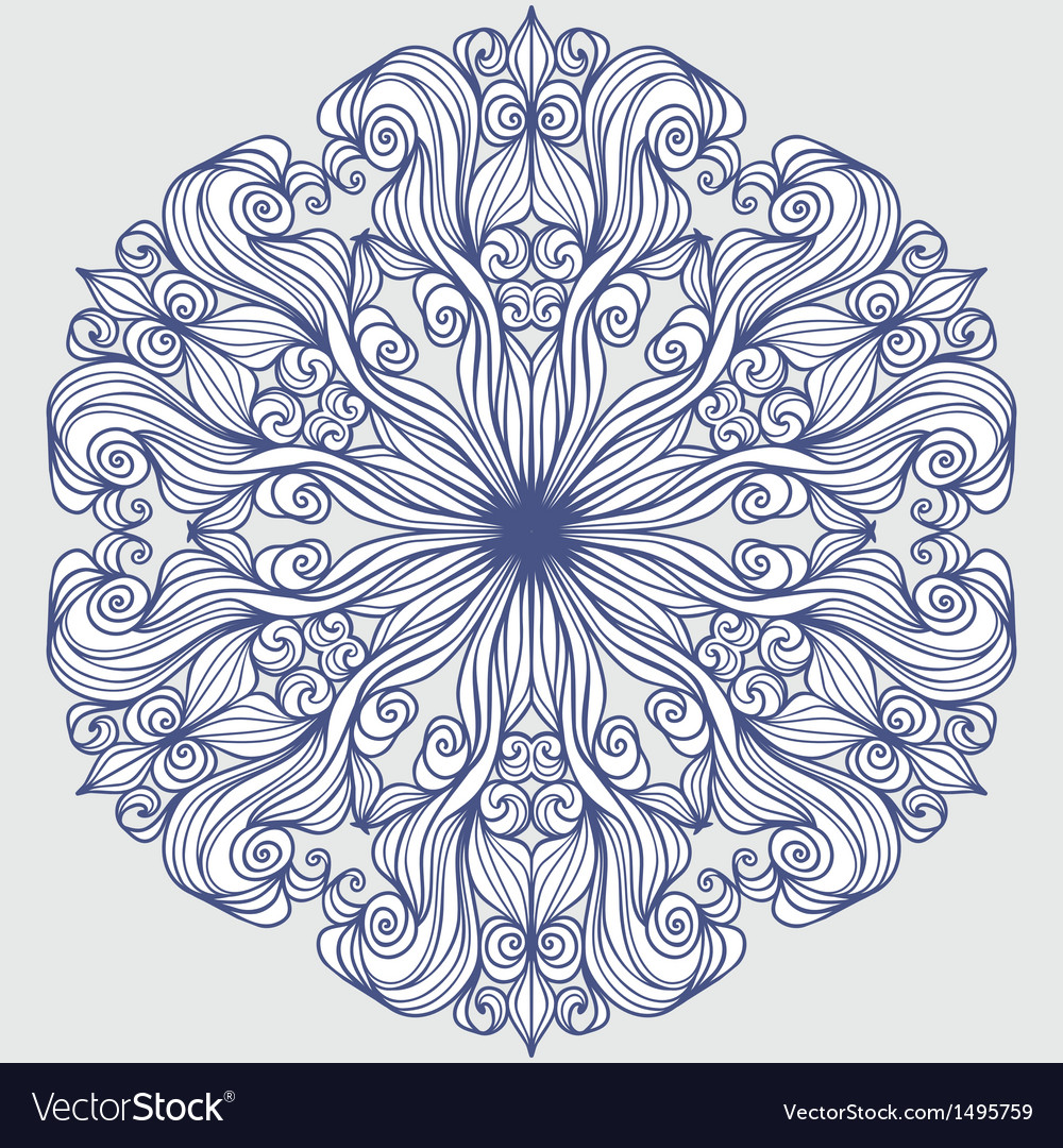 Design element round pattern vector | Price: 1 Credit (USD $1)