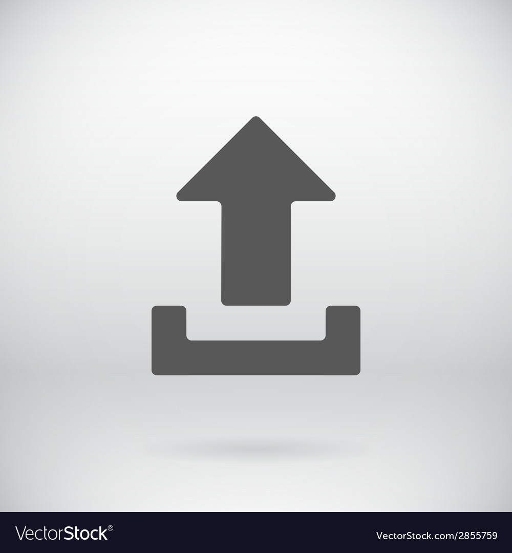 Flat download upload icon load symbol button vector | Price: 1 Credit (USD $1)