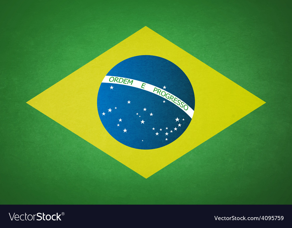 Grunge flag of brazil vector | Price: 1 Credit (USD $1)